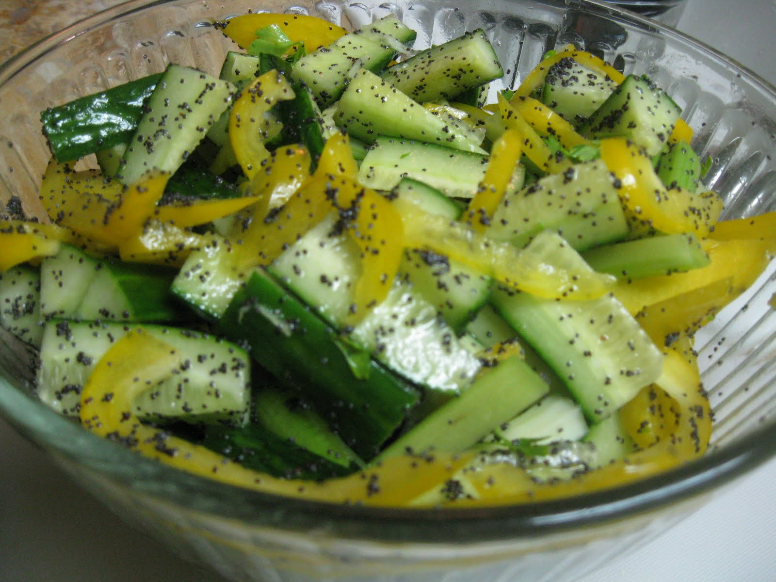 Cucumber Poppy Seed Salad