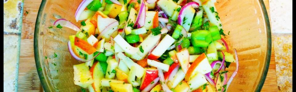 Apple Celery Salad with Lemon Vinaigrette