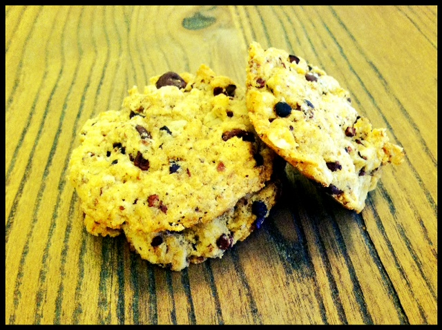 Vegan Gluten Free Oatmeal Chocolate Chip Cocoa Nib Walnut Cookies